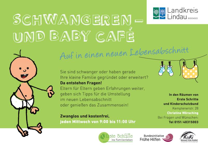 Schwangeren und Baby Cafe